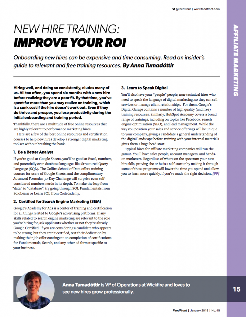 New Hire Training: Improve Your ROI