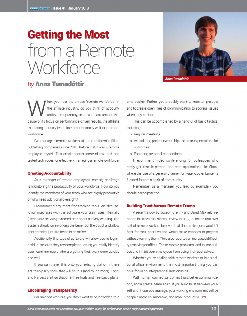 Getting the Most from a Remote Workforce