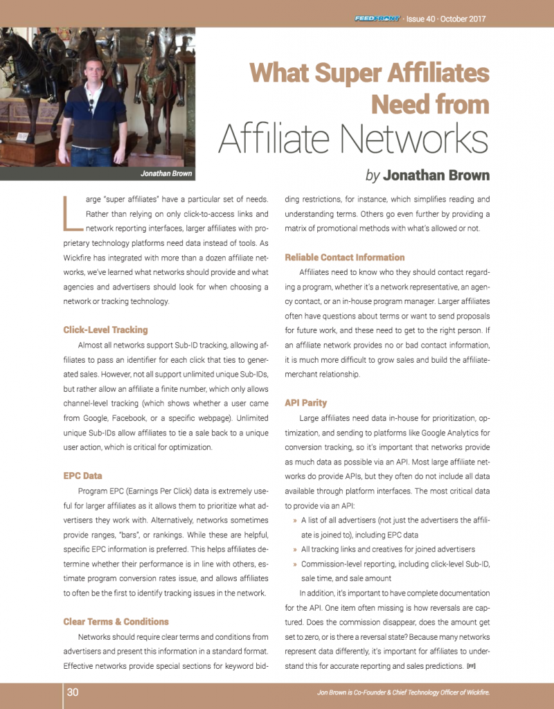 What Super Affiliates Need from Affiliate Networks