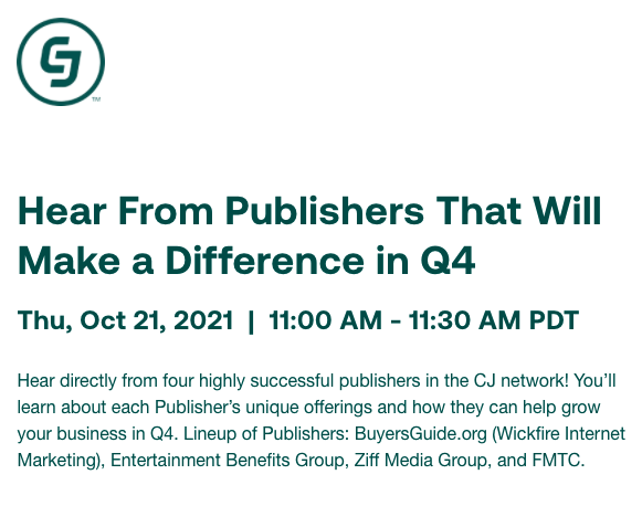 Wickfire Featured by CJ as Q4 Top Publisher
